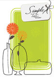 Tre vasi alla moda illustrazione di stock