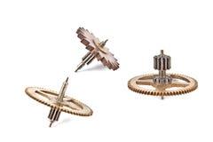 Tre vecchi attrezzi delle ruote dentate Immagini Stock
