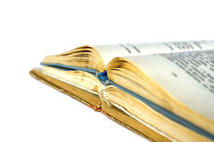 Tre vecchi libri aperti Immagine Stock