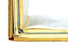 Tre vecchi libri aperti Fotografie Stock