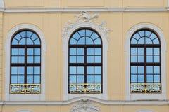 Tre vecchie finestre Fotografie Stock Libere da Diritti