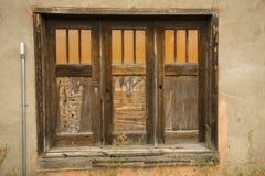 Tre vecchie porte, marroni con le finestre, Jackson, Wyoming Fotografia Stock Libera da Diritti