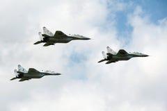 Tre velivoli di caccia di jet MiG-29 Immagine Stock Libera da Diritti