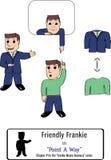 Tre versioni di un indicare amichevole dell'uomo di affari Immagini Stock Libere da Diritti