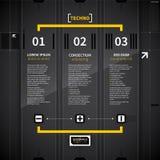 Tre vertikala baner i technostil Arkivfoton