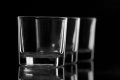 Tre vetri del nero Fotografia Stock Libera da Diritti