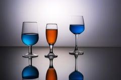 Tre vetri di bellezza Fotografia Stock