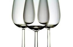 Tre vetri di vino immagine stock libera da diritti