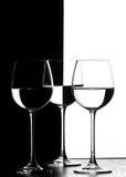 Tre vetri di vino fotografie stock