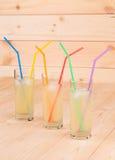 Tre vetri pieni di limonata fresca Fotografia Stock Libera da Diritti