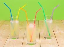 Tre vetri pieni di limonata fresca Immagine Stock Libera da Diritti