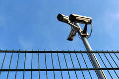 Tre videocamere di sicurezza Fotografia Stock Libera da Diritti