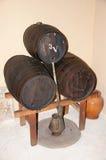Tre vinfat Fotografering för Bildbyråer