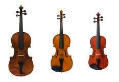 Tre violini Fotografie Stock Libere da Diritti