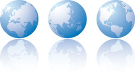 Tre visioni mondiali Fotografia Stock