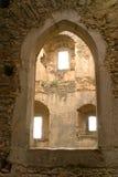 Tre Windows attraverso l'arco Immagini Stock