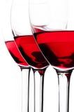 Tre wineexponeringsglas Royaltyfri Fotografi
