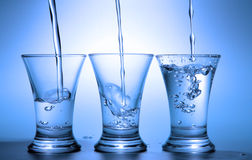 tre wineglasses Royaltyfria Bilder