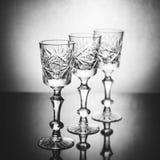 Tre wineglasses Royaltyfri Foto
