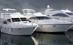 Tre yacht Fotografie Stock