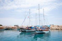 Tre yacht di navigazione Fotografia Stock