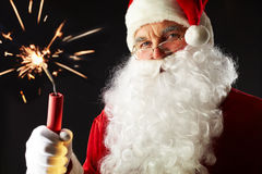 Treacherous Santa Stock Photo