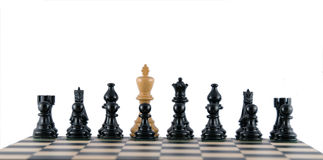Treachery amongst black ranks. Various chess metaphors. Treachery and betrayal Royalty Free Stock Images