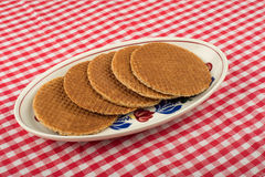 Treacle wafers Royalty Free Stock Photo