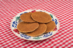 Treacle wafers Stock Images