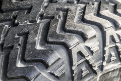 The tread of a car tire closeup Stock Photography