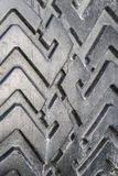 The tread of a car tire closeup Royalty Free Stock Image