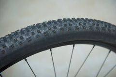 Tread part of bicycle Wheel Stock Photography