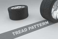 Tread Pattern safety concept Stock Photo