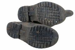 Tread Pattern on Sole of Wellington Boots Stock Photo