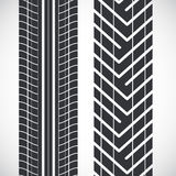 Tread pattern tyre Stock Photo