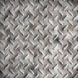 Tread plate. A large sheet of diamond or tread plate metal Stock Photo