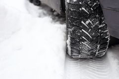 Tread in the snow Royalty Free Stock Image