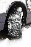 Tread in snow Royalty Free Stock Photography