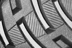 Tread on the sole. Photo of abstract textures Royalty Free Stock Photo