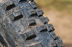 Tread tires mountain bike Royalty Free Stock Images