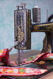 Treadle sewing machine Stock Images