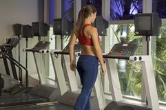 On The Treadmill Stock Photography