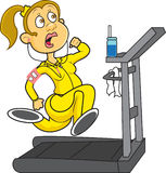 treadmill stock illustrationer