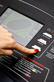 Treadmill γυμναστικής τιμή τών παραμέτρων Στοκ Φωτογραφίες