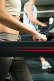 On the treadmill Royalty Free Stock Photos