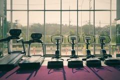 Treadmill, airwalk machine, step machine equipments in fitness g. Ym Stock Photo