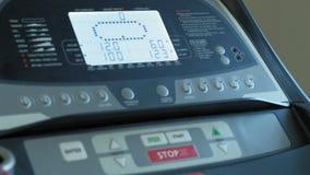 treadmill Aptitud Forma de vida sana almacen de metraje de vídeo