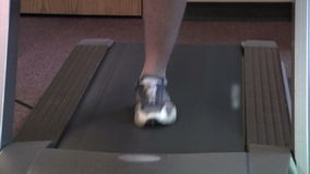 Treadmill closeup stock footage