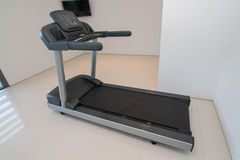 Treadmill closeup. For fitness. Royalty Free Stock Image