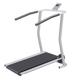 Treadmill. With display on a white background Royalty Free Stock Photos